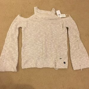 Hollister Sweater M Womens Beige Color